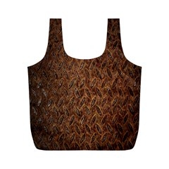 Texture Background Rust Surface Shape Full Print Recycle Bags (m)  by Simbadda