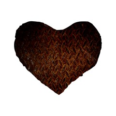 Texture Background Rust Surface Shape Standard 16  Premium Flano Heart Shape Cushions by Simbadda