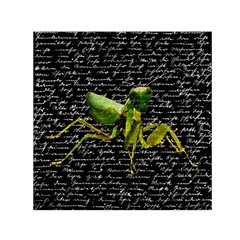 Mantis Small Satin Scarf (square) by Valentinaart