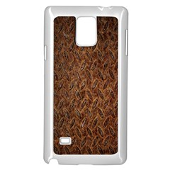 Texture Background Rust Surface Shape Samsung Galaxy Note 4 Case (white) by Simbadda