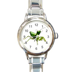 Mantis Round Italian Charm Watch by Valentinaart