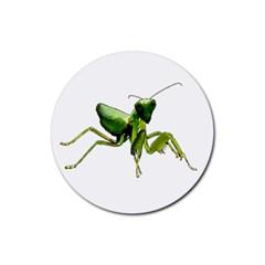Mantis Rubber Round Coaster (4 Pack)  by Valentinaart