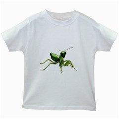 Mantis Kids White T Shirts by Valentinaart
