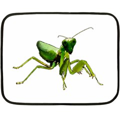 Mantis Double Sided Fleece Blanket (mini)  by Valentinaart