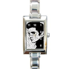 Elvis Rectangle Italian Charm Watch by Valentinaart