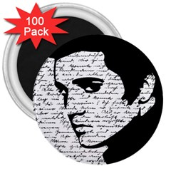 Elvis 3  Magnets (100 Pack) by Valentinaart