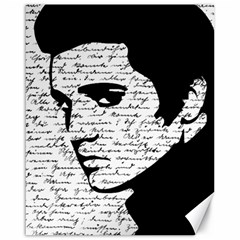 Elvis Canvas 16  X 20   by Valentinaart