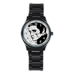 Elvis Stainless Steel Round Watch by Valentinaart