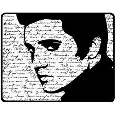 Elvis Double Sided Fleece Blanket (medium)  by Valentinaart