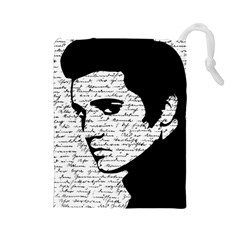 Elvis Drawstring Pouches (large)  by Valentinaart