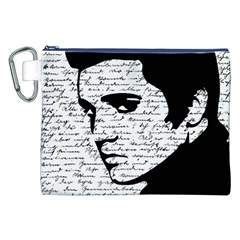 Elvis Canvas Cosmetic Bag (xxl) by Valentinaart