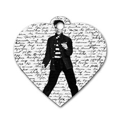 Elvis Dog Tag Heart (one Side) by Valentinaart