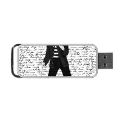 Elvis Portable Usb Flash (one Side) by Valentinaart