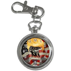 Caution Key Chain Watches by Valentinaart