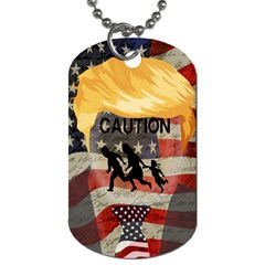 Caution Dog Tag (two Sides) by Valentinaart