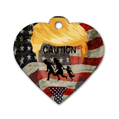 Caution Dog Tag Heart (one Side) by Valentinaart