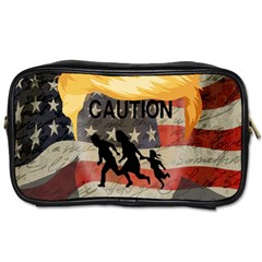 Caution Toiletries Bags 2 Side by Valentinaart