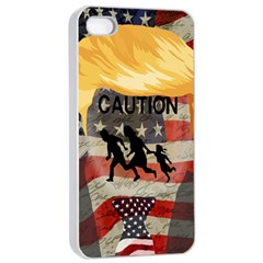 Caution Apple Iphone 4/4s Seamless Case (white) by Valentinaart
