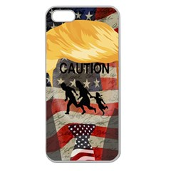 Caution Apple Seamless Iphone 5 Case (clear) by Valentinaart