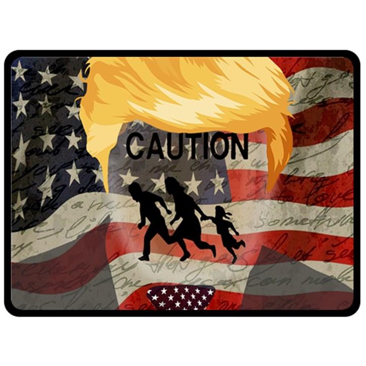 Caution Double Sided Fleece Blanket (Large)
