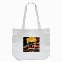 Caution Tote Bag (white) by Valentinaart