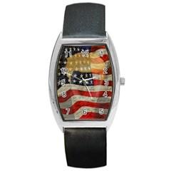 American President Barrel Style Metal Watch by Valentinaart