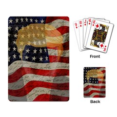American President Playing Card by Valentinaart