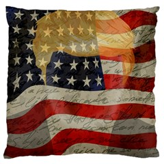 American President Large Cushion Case (two Sides) by Valentinaart