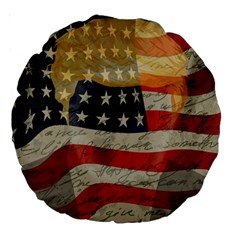 American President Large 18  Premium Round Cushions by Valentinaart