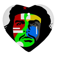 Che Guevara Heart Ornament (two Sides) by Valentinaart