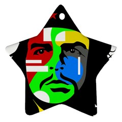 Che Guevara Star Ornament (two Sides) by Valentinaart