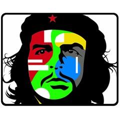 Che Guevara Fleece Blanket (medium)  by Valentinaart