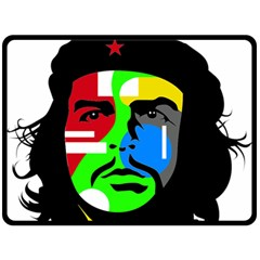 Che Guevara Double Sided Fleece Blanket (large)  by Valentinaart