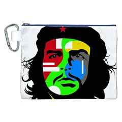Che Guevara Canvas Cosmetic Bag (xxl) by Valentinaart