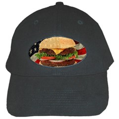 Hamburger Black Cap by Valentinaart