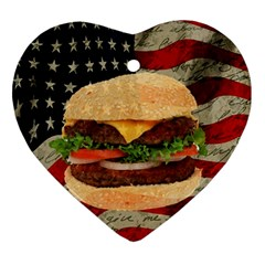 Hamburger Ornament (heart) by Valentinaart