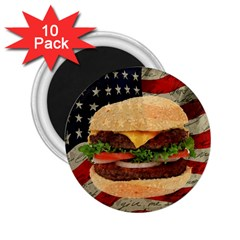 Hamburger 2 25  Magnets (10 Pack)  by Valentinaart