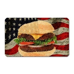 Hamburger Magnet (rectangular) by Valentinaart