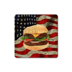 Hamburger Square Magnet by Valentinaart