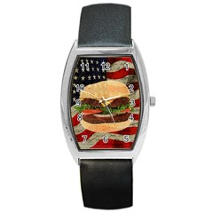 Hamburger Barrel Style Metal Watch by Valentinaart