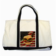 Hamburger Two Tone Tote Bag by Valentinaart