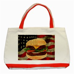 Hamburger Classic Tote Bag (red) by Valentinaart