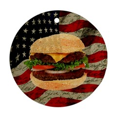 Hamburger Round Ornament (two Sides) by Valentinaart