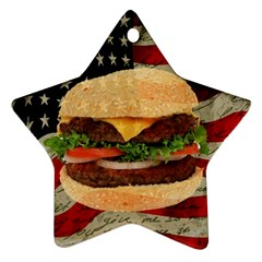 Hamburger Star Ornament (two Sides) by Valentinaart