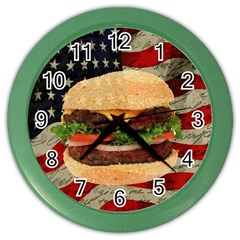 Hamburger Color Wall Clocks by Valentinaart