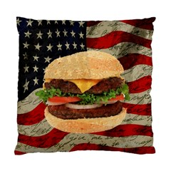 Hamburger Standard Cushion Case (one Side) by Valentinaart