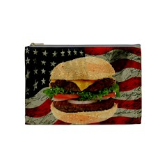 Hamburger Cosmetic Bag (medium)  by Valentinaart