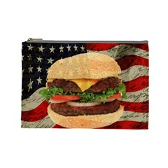 Hamburger Cosmetic Bag (large)  by Valentinaart