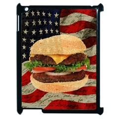 Hamburger Apple Ipad 2 Case (black) by Valentinaart