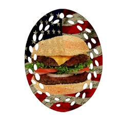 Hamburger Oval Filigree Ornament (two Sides) by Valentinaart